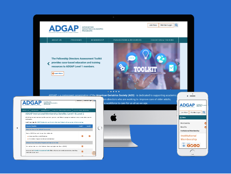 ADGAP American Geriatrics Society Educational Website